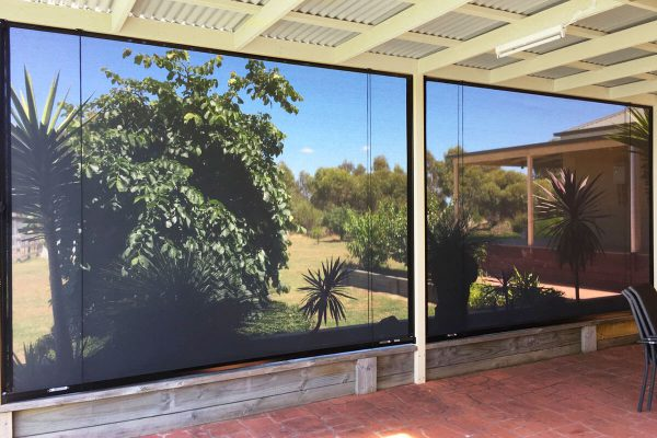 Aussie Outdoor Australian Made Outdoor Blinds - Alfresco Classic view to Garden