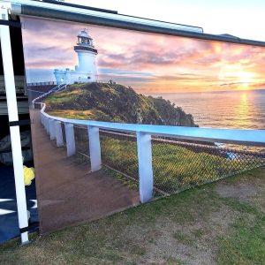 Van Tastic Printed Screens - Byron Bay Lighthouse