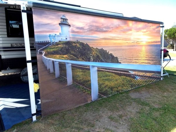 Van Tastic Printed Screens - Byron Bay Lighthouse